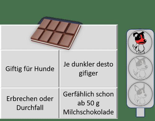 Dürfen Hunde Schokolade essen